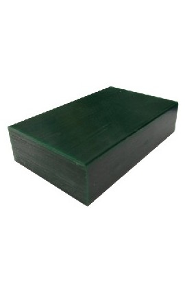 Green wax block for modeling
