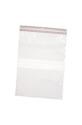 Ziplock bag 12x18cm with label block for marker use