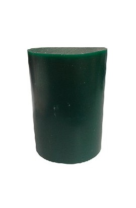 Green oval wax block