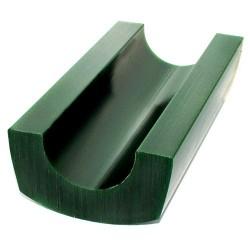 Cire cambre demi bracelet oval verte