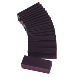 Purple wax block for modeling in strip