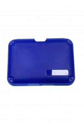 Coquille en plastique bleu
