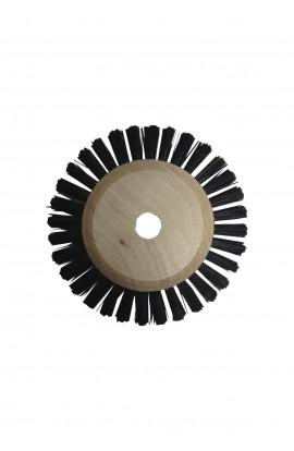 Brosse circulaire 1 rang, 50mm , soie noire