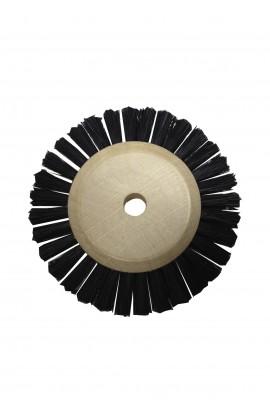Brosse circulaire 2 rang, 60mm, soie noire