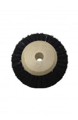 Brosse circulaire 3 rangs, 60mm, soie noire