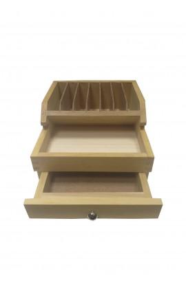 Support pour pinces en bois, boite