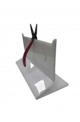 Support pour pinces PVC blanc