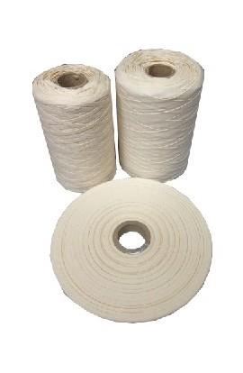 Ruban coton écru glacé 5mm