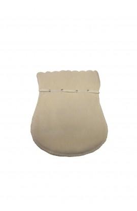 Pochette ovale PM beige