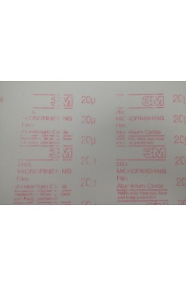 3M abrasive sel adhesive paper sheet, 20 micron