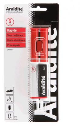ARALDITE red glue syringe 22ml