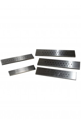 Steel round draw-plate 20 holes half round 3 to 1mm