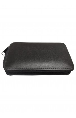 Flat leather wallet 15cm