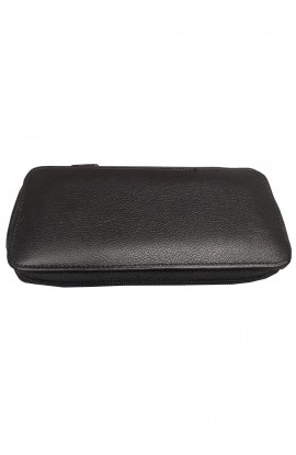 Flat leather wallet 20cm