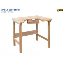 Setter's work bench, one sit