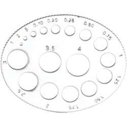 Oval plate gauge for round stone