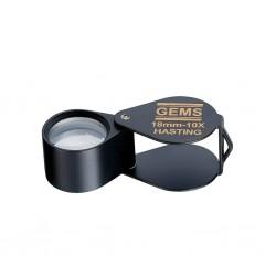 Caoutchouc setting magnifier 10x, 18mm