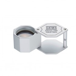 Chromed setting magnifier 10x, 18mm