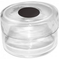 Récipient en verre pour rhodinette socle noir