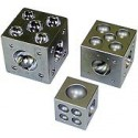 Hardened steel dapping die cube